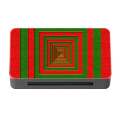 Fabric 3d Merry Christmas Memory Card Reader With Cf
