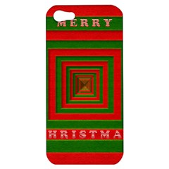 Fabric 3d Merry Christmas Apple Iphone 5 Hardshell Case