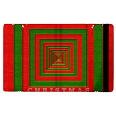 Fabric 3d Merry Christmas Apple iPad 3/4 Flip Case