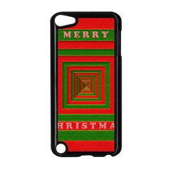Fabric 3d Merry Christmas Apple iPod Touch 5 Case (Black)