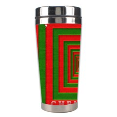 Fabric 3d Merry Christmas Stainless Steel Travel Tumblers