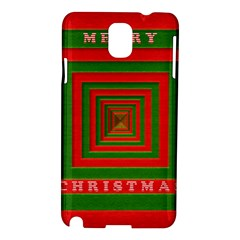 Fabric 3d Merry Christmas Samsung Galaxy Note 3 N9005 Hardshell Case