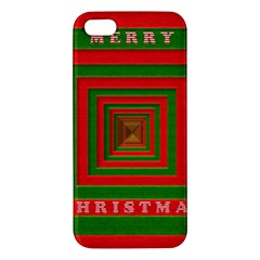 Fabric 3d Merry Christmas iPhone 5S/ SE Premium Hardshell Case