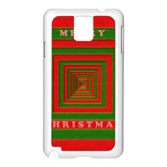 Fabric 3d Merry Christmas Samsung Galaxy Note 3 N9005 Case (white)