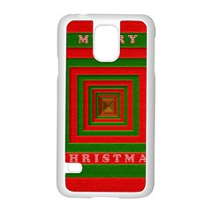 Fabric 3d Merry Christmas Samsung Galaxy S5 Case (White)