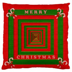 Fabric 3d Merry Christmas Standard Flano Cushion Case (two Sides)