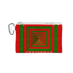 Fabric 3d Merry Christmas Canvas Cosmetic Bag (S)