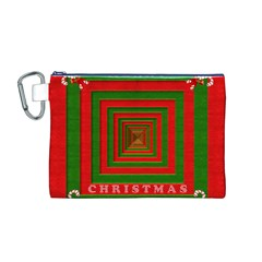 Fabric 3d Merry Christmas Canvas Cosmetic Bag (m)