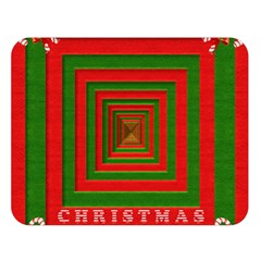 Fabric 3d Merry Christmas Double Sided Flano Blanket (large)
