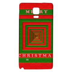 Fabric 3d Merry Christmas Galaxy Note 4 Back Case