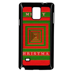 Fabric 3d Merry Christmas Samsung Galaxy Note 4 Case (black)