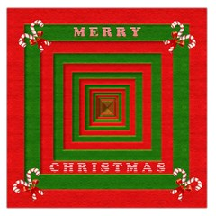Fabric 3d Merry Christmas Large Satin Scarf (square)