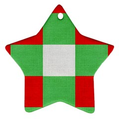 Fabric Christmas Colors Bright Ornament (star)