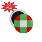 Fabric Christmas Colors Bright 1.75  Magnets (100 pack)  Front