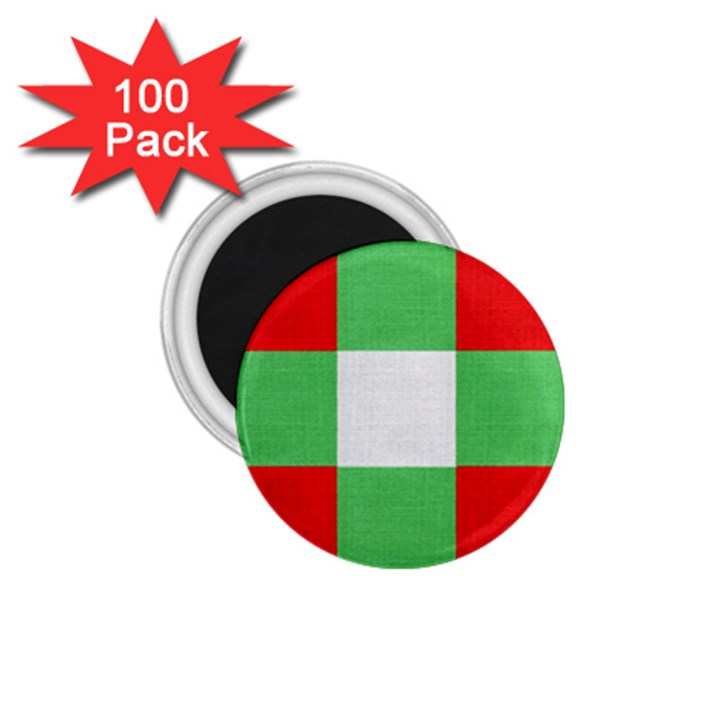 Fabric Christmas Colors Bright 1.75  Magnets (100 pack)