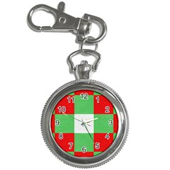 Fabric Christmas Colors Bright Key Chain Watches