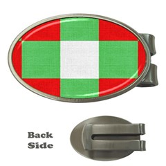 Fabric Christmas Colors Bright Money Clips (Oval)
