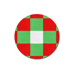 Fabric Christmas Colors Bright Magnet 3  (Round)