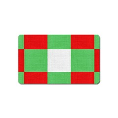 Fabric Christmas Colors Bright Magnet (Name Card)