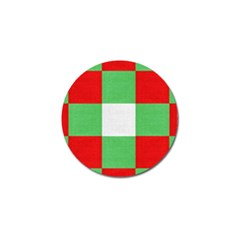 Fabric Christmas Colors Bright Golf Ball Marker (4 pack)