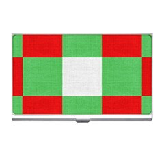 Fabric Christmas Colors Bright Business Card Holders