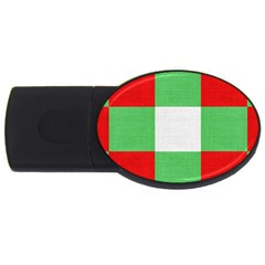 Fabric Christmas Colors Bright Usb Flash Drive Oval (2 Gb)