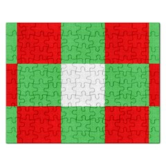 Fabric Christmas Colors Bright Rectangular Jigsaw Puzzl