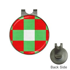 Fabric Christmas Colors Bright Hat Clips With Golf Markers