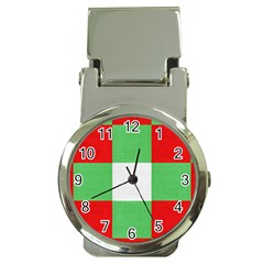 Fabric Christmas Colors Bright Money Clip Watches