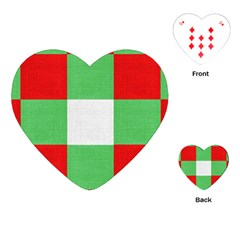 Fabric Christmas Colors Bright Playing Cards (Heart)