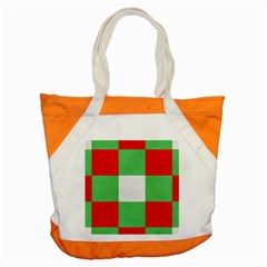 Fabric Christmas Colors Bright Accent Tote Bag