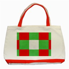 Fabric Christmas Colors Bright Classic Tote Bag (Red)