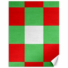 Fabric Christmas Colors Bright Canvas 12  x 16