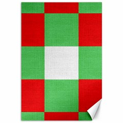 Fabric Christmas Colors Bright Canvas 12  x 18