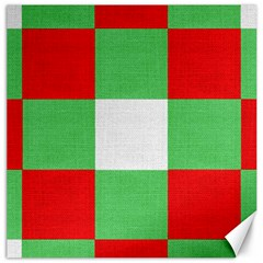 Fabric Christmas Colors Bright Canvas 16  x 16