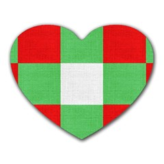 Fabric Christmas Colors Bright Heart Mousepads