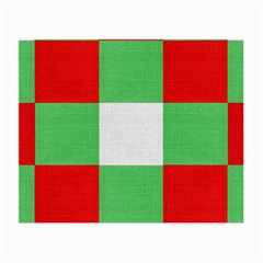 Fabric Christmas Colors Bright Small Glasses Cloth (2-Side)
