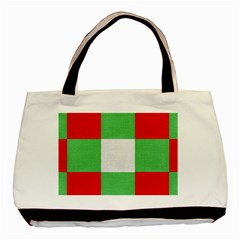 Fabric Christmas Colors Bright Basic Tote Bag (Two Sides)