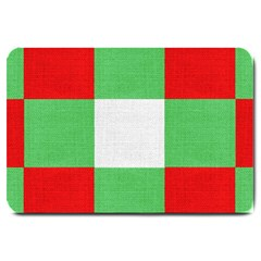 Fabric Christmas Colors Bright Large Doormat