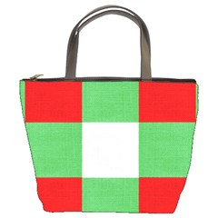Fabric Christmas Colors Bright Bucket Bags