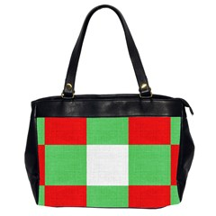 Fabric Christmas Colors Bright Office Handbags (2 Sides)