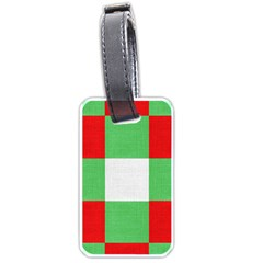 Fabric Christmas Colors Bright Luggage Tags (One Side)