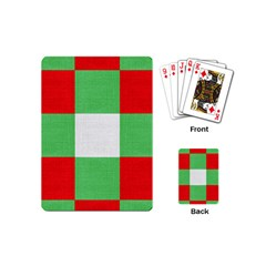 Fabric Christmas Colors Bright Playing Cards (Mini)