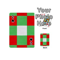 Fabric Christmas Colors Bright Playing Cards 54 (Mini)
