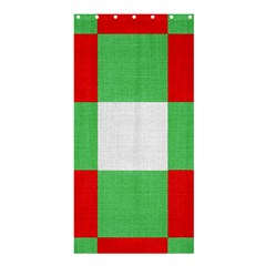 Fabric Christmas Colors Bright Shower Curtain 36  x 72  (Stall)