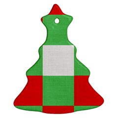Fabric Christmas Colors Bright Ornament (Christmas Tree)