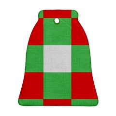 Fabric Christmas Colors Bright Bell Ornament (Two Sides)