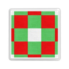 Fabric Christmas Colors Bright Memory Card Reader (Square)