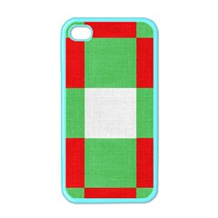 Fabric Christmas Colors Bright Apple Iphone 4 Case (color)