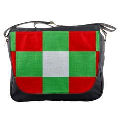 Fabric Christmas Colors Bright Messenger Bags